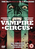 Vampire Circus - British DVD cover (xs thumbnail)