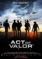 Act of Valor - Italian Movie Poster (xs thumbnail)