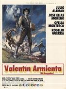 Valentin Armienta el vengador - Mexican Movie Poster (xs thumbnail)