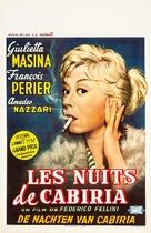 Le notti di Cabiria - Belgian Movie Poster (xs thumbnail)