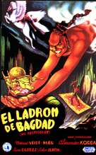 The Thief of Bagdad - Spanish Movie Poster (xs thumbnail)