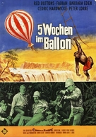 Five Weeks in a Balloon - German Movie Poster (xs thumbnail)