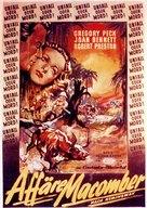The Macomber Affair - German Movie Poster (xs thumbnail)