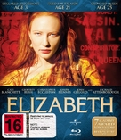 Elizabeth - New Zealand Blu-Ray cover (xs thumbnail)