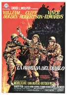 The Devil's Brigade - Spanish Movie Poster (xs thumbnail)