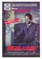 Highlander - Video release movie poster (xs thumbnail)