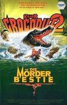 Killer Crocodile II - German VHS movie cover (xs thumbnail)