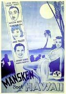 Moonlight in Hawaii - Swedish Movie Poster (xs thumbnail)