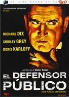 The Public Defender - Spanish DVD cover (xs thumbnail)