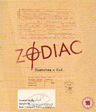 Zodiac - British Blu-Ray movie cover (xs thumbnail)