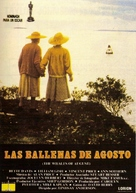 The Whales of August - Spanish Movie Poster (xs thumbnail)