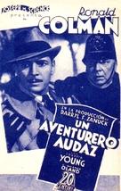 Bulldog Drummond Strikes Back - Spanish Movie Poster (xs thumbnail)
