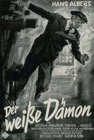 Der weiße Dämon - German Movie Poster (xs thumbnail)