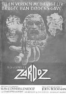 Zardoz - Danish Movie Poster (xs thumbnail)