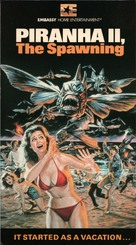 Piranha Part Two: The Spawning - VHS movie cover (xs thumbnail)