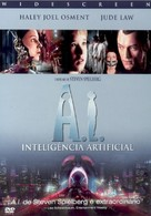 Artificial Intelligence: AI - Portuguese DVD movie cover (xs thumbnail)