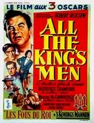 All the King's Men - Belgian Movie Poster (xs thumbnail)