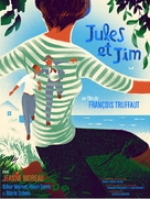 Jules Et Jim - Belgian Re-release movie poster (xs thumbnail)