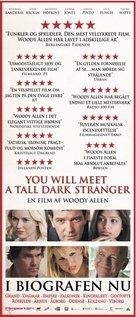 You Will Meet a Tall Dark Stranger - Danish Movie Poster (xs thumbnail)