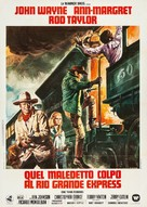 The Train Robbers - Italian Movie Poster (xs thumbnail)