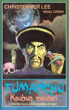 The Face of Fu Manchu - Finnish VHS movie cover (xs thumbnail)