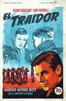 Decision Before Dawn - Spanish Movie Poster (xs thumbnail)