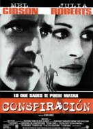 Conspiracy Theory - Spanish Movie Poster (xs thumbnail)