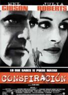Conspiracy Theory - Spanish Movie Poster (xs thumbnail)