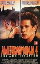 American Ninja 4: The Annihilation - British VHS movie cover (xs thumbnail)