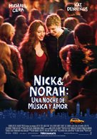 Nick and Norah's Infinite Playlist - Spanish Movie Poster (xs thumbnail)