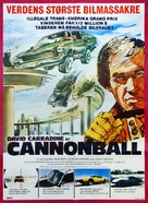 Cannonball! - Danish Movie Poster (xs thumbnail)