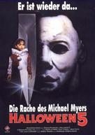 Halloween 5 - German VHS movie cover (xs thumbnail)