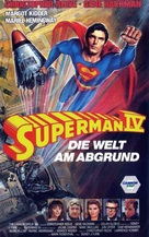 Superman IV: The Quest for Peace - German VHS movie cover (xs thumbnail)