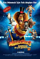 Madagascar 3: Europe's Most Wanted - Turkish Movie Poster (xs thumbnail)