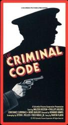 The Criminal Code - VHS cover (xs thumbnail)