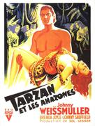 Tarzan and the Amazons - French Movie Poster (xs thumbnail)