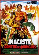 Maciste contro i Mongoli - French Movie Poster (xs thumbnail)
