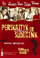 Burn After Reading - Lithuanian Movie Poster (xs thumbnail)