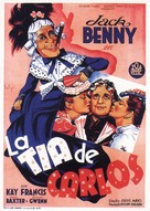 Charley's Aunt - Spanish Movie Poster (xs thumbnail)