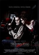 Sweeney Todd: The Demon Barber of Fleet Street - Brazilian Movie Poster (xs thumbnail)