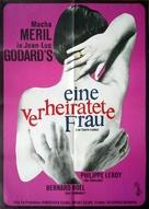Une femme mariée: Suite de fragments d'un film tourné en 1964 - German Movie Poster (xs thumbnail)