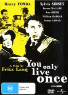 You Only Live Once - Australian DVD movie cover (xs thumbnail)