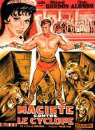 Maciste nella terra dei ciclopi - French Movie Poster (xs thumbnail)