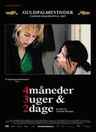 4 luni, 3 saptamini si 2 zile - Danish Movie Poster (xs thumbnail)