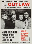 The Outlaw - Danish Movie Poster (xs thumbnail)