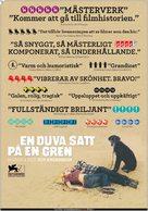 En duva satt på en gren och funderade på tillvaron - Swedish Movie Poster (xs thumbnail)