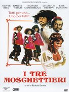The Three Musketeers - Italian Movie Cover (xs thumbnail)