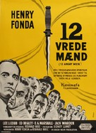 12 Angry Men - Danish Movie Poster (xs thumbnail)