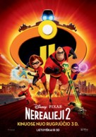 The Incredibles 2 - Lithuanian Movie Poster (xs thumbnail)