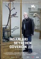 En duva satt på en gren och funderade på tillvaron - Turkish Movie Poster (xs thumbnail)